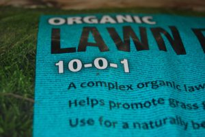 Organic Lawn Care Fertilizer Bag with a N-P-K ration of 10-0-1